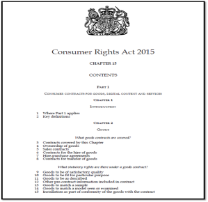 Consumer Rights Act